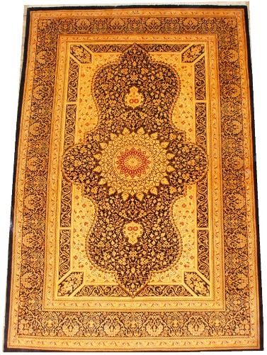 Ghom silk-carpet with Kap-Korani-design